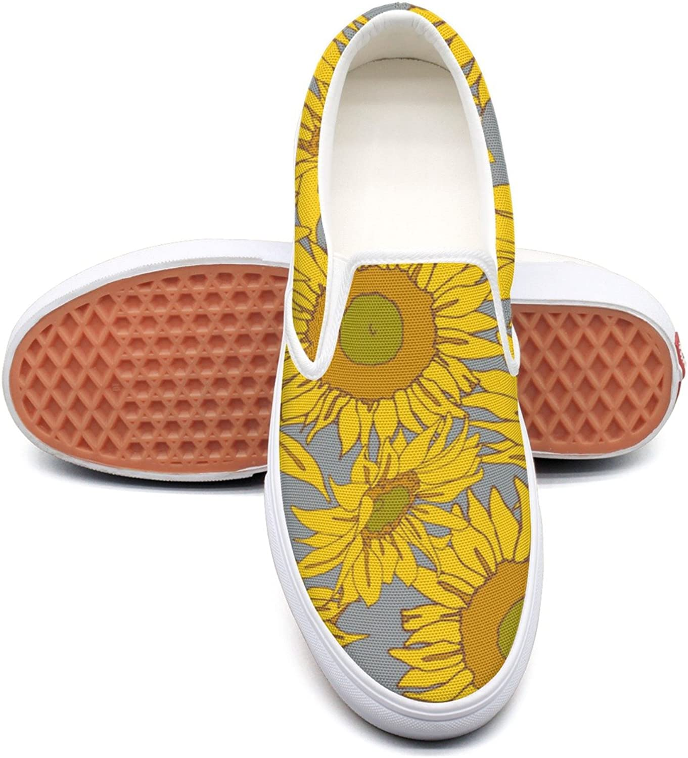 Hjkggd fgfds Casual Floral Fall Autumn Summer Sunflower Attractive Women Canvas shoes