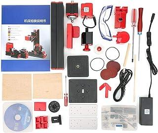 優れた処理ミニ電動CNCツール、組み立てが簡単ミニ電動旋盤機、家族に安全なエアロモデルを作る学童木工モデル