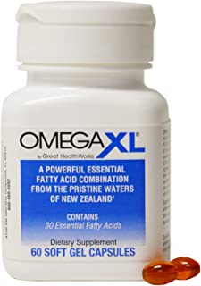 "Omega XL Omega-3 ""Super Oil"" with 22 TIMES MORE Fatty Acids Than Fish Oil - 60 Capsules"