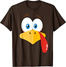 Turkey Face Pilgrim T-Shirt Thanksgiving Costume Shirt T-Shirt