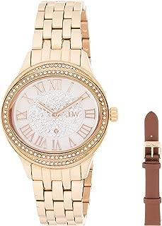 JBW Luxury Women's Plaza Diamond Two Interchangeable Band Watch