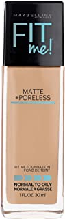 Maybelline Fit Me Matte + Poreless Liquid Foundation Makeup, Sun Beige, 1 fl. oz. Oil-Free Foundation