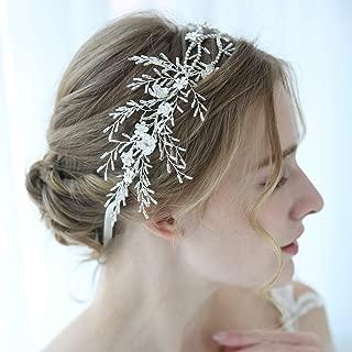 SWEETV Rhinestone Wedding Headband Silver, Hair Vine Bridal Headpiece, Hair Accessories for Brides, Bridesmaid