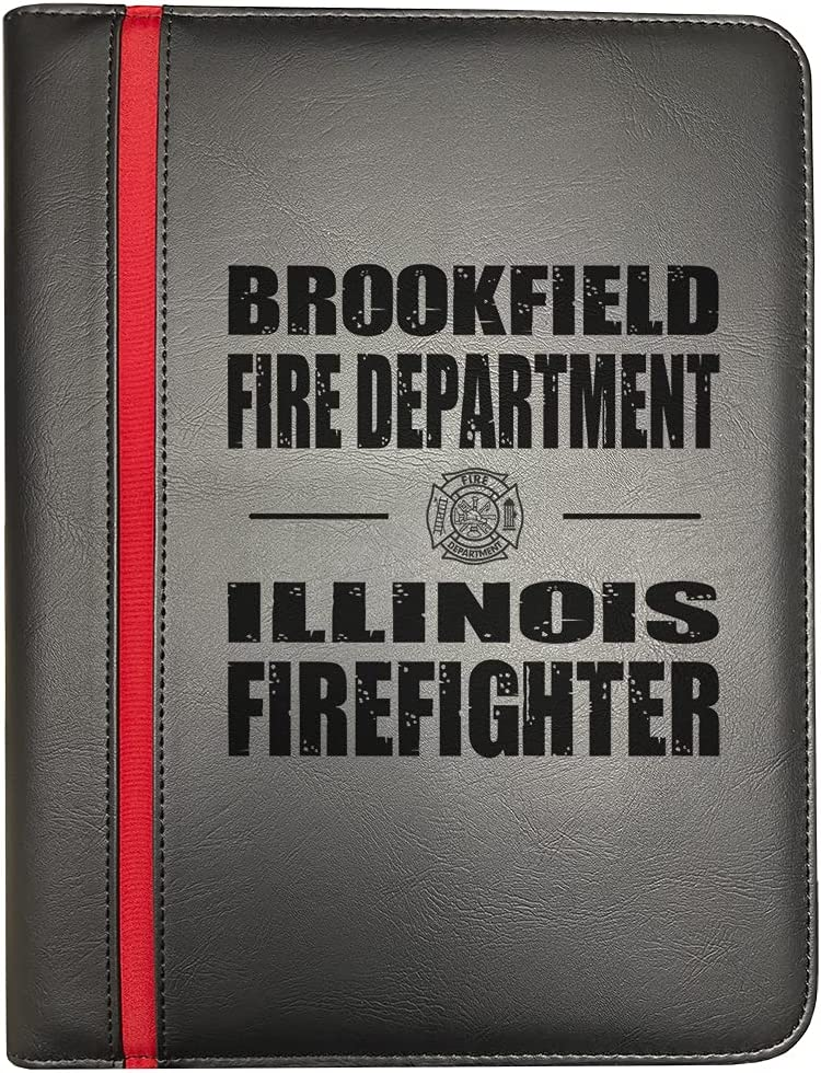 Brookfield Illinois Fire Departments Firefighter Line F Now free Max 63% OFF shipping Thin Red