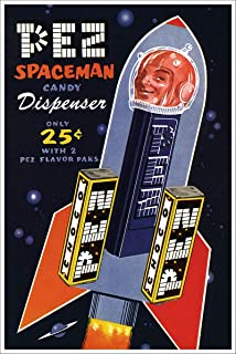 American Gift Services - PEZ Spaceman Candy Dispenser Poster Vintage Science Fiction and Fantasy Sci Fi Art Poster - 18x24