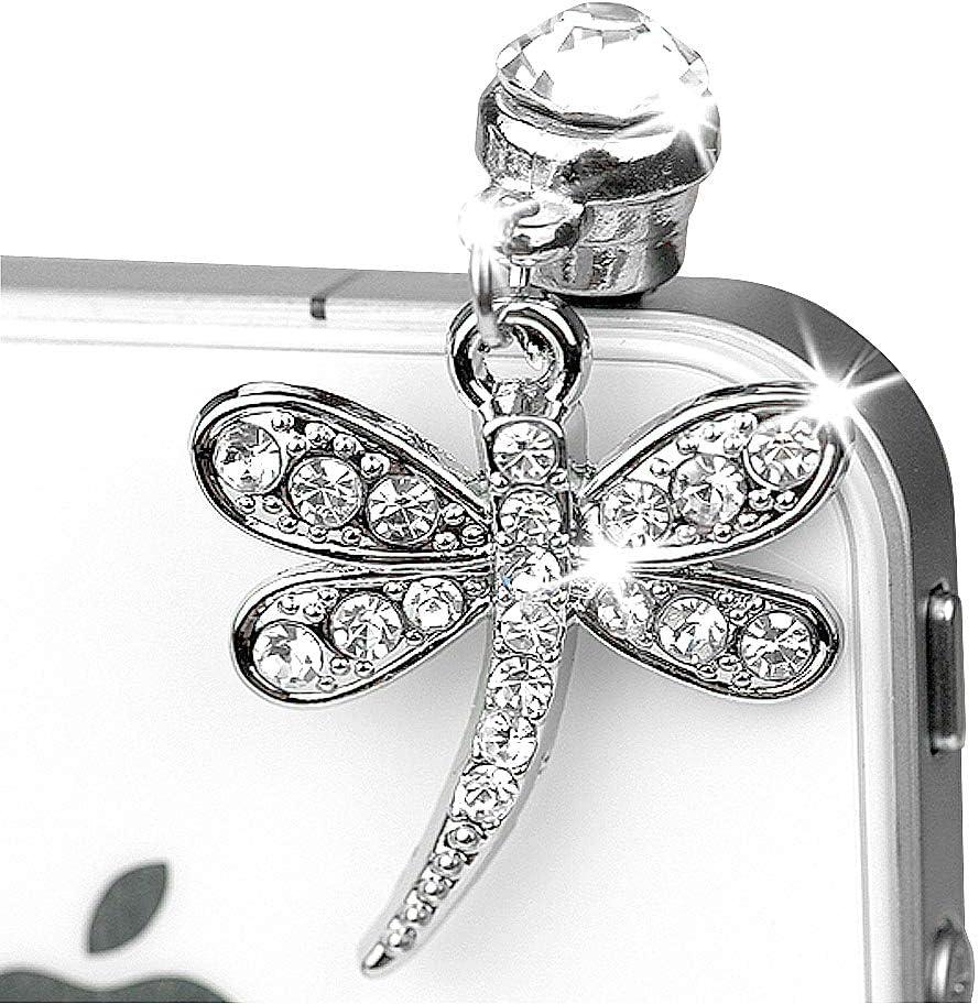 ip255-B Luxury Crystal Dragonfly Charm Plug Anti for Arlington Mall Dust Phone Charlotte Mall