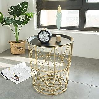 Boîte de Rangement Divers Tables Basses Moderne Nordique Fer Art Simple Salon Sofa côté Chambre Panier, for Chambre Salon ...
