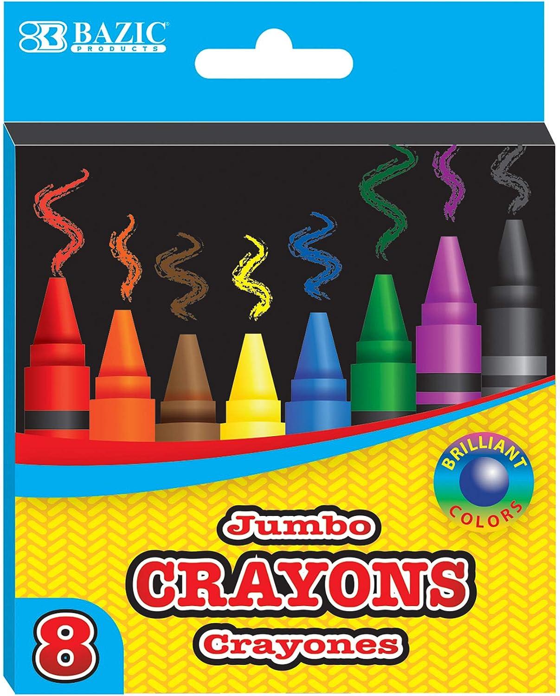 BAZIC Crayons Jumbo 8 Color Award Set Product Coloring Assorted Crayon