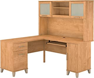Sponsored Ad - Bush Furniture Somerset L Shaped Desk with Hutch, 60W, Maple Cross