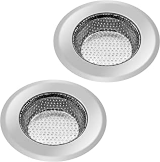 Kitchen Sink Strainer Basket Stainless Steel Sink Drain Filter Kitchen Tools and Gadgets,Large Wide Rim 4.4 Inch Diameter(2 PCS)