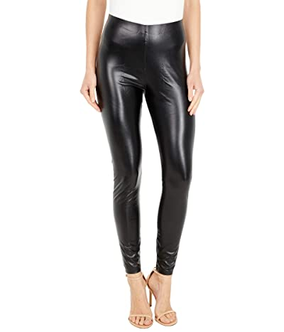 HUE Leatherette High-Rise Leggings (Black) Women