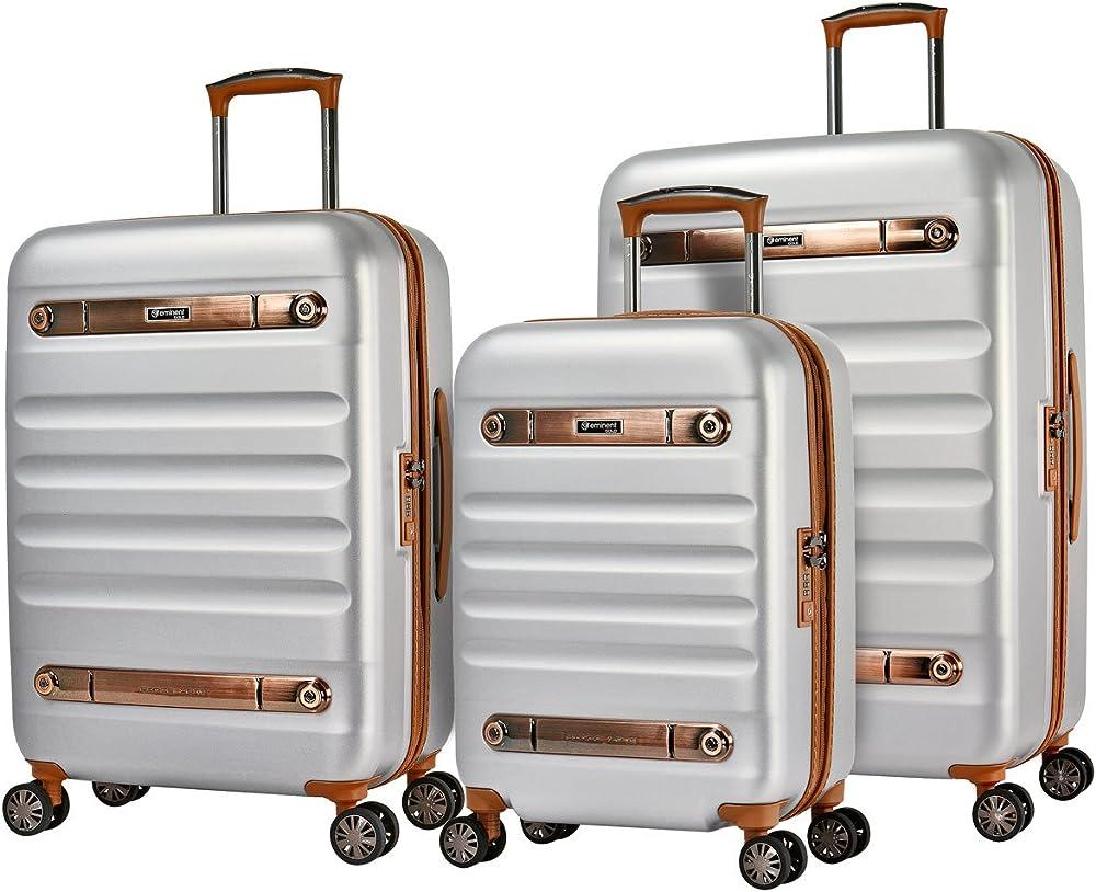 Eminent gold set di valigie nostalgia 3pcs