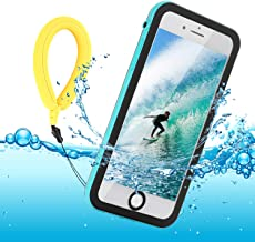 Funda Impermeable iPhone 8 / iPhone 7, IP68 Waterproof Outdoor Delgado Cover a Prueba de choques Anti-rasguños Full Body con Protector de Pantalla Impermeable Funda para iPhone 8/7 (Blue with Strap)