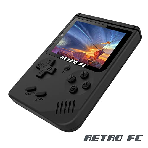 Anbernic Game Console Handheld Game Console 3 Inch Screen 168 Games Retro FC TV Output Game Player Classic Game Console , Birthday Present for Children - Black