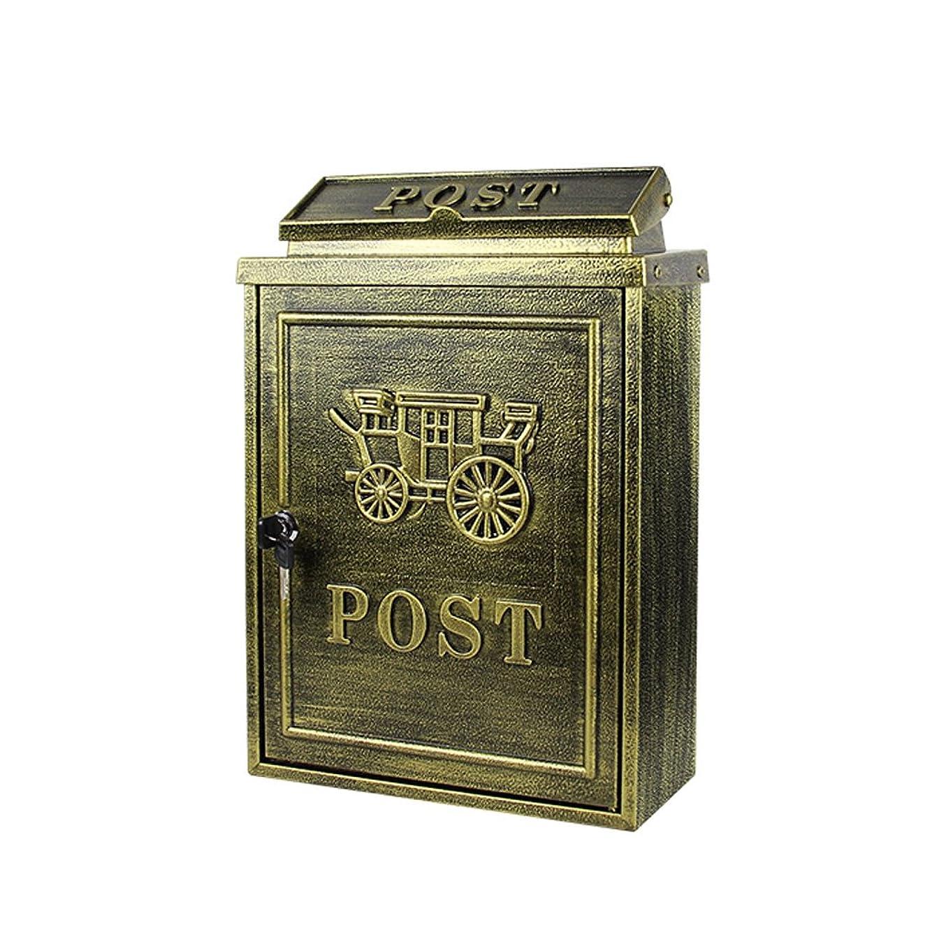 ゴシップ家主天窓GLJJQMY ヨーロッパのレターボックス屋外雨水ヴィラのメールボックスの壁掛けロックポストボックス大きな農村創造的なレターボックス メールボックス