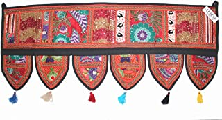 Mango Gifts Handmade Ethnic Home Decor Toran Tapestry Embroidered Garland Door Hanging India