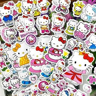 Lanseede Hellokitty - Pegatinas 3D para niños (12 hojas diferentes, 250 pegatinas con diseño de Hello Kitty, obsequios de ...