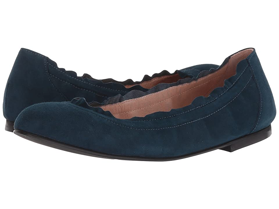 French Sole Cuff Flat (Russo Blue Suede) Women