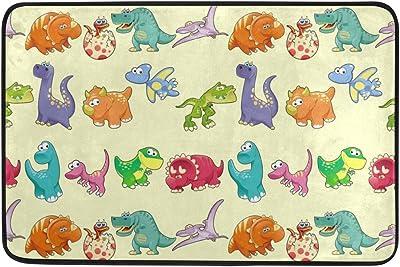 MASSIKOA Dinosaur Dino Non Slip Backing Entrance Doormat Floor Mat Rug Indoor Outdoor Front Door Bathroom Mats, 23.6 x 15.7 inches