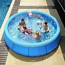 Opblaasbaar zwembad, 300 x 76 cm, voor katten, zwembad, hond, kinderbadje, tuinzwembad, zelfopbouwend met opblaasbaar zwem...