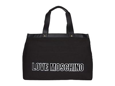 LOVE Moschino Canvas Tote Bag (Black) Handbags