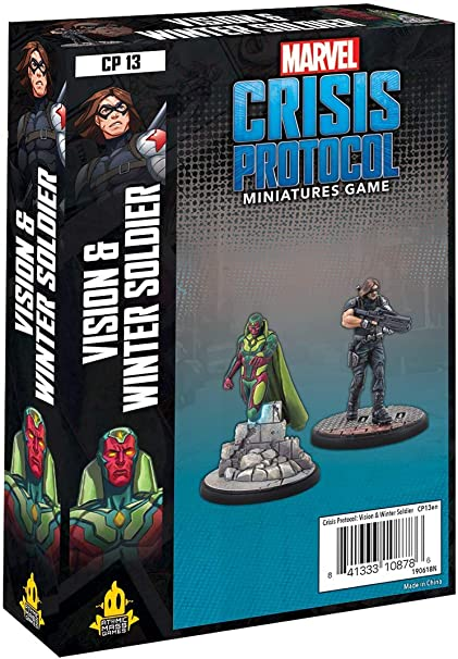 Amazon.com: Atomic Mass Marvel Crisis Protocol: Vision & Winter Soldier  Chara, Multicolor : Toys & Games
