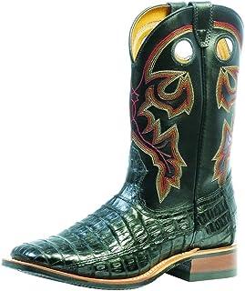 American Boots - Cowboy Exotic (Alligator) BO-9503-65-E (Normal Walking) - Men - Black