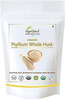 Agrovishwa Organic Certified Psyllium Whole Husk |Intro. Offer| Natural fiber |Weight Management, Cholesterol and Blood Su...