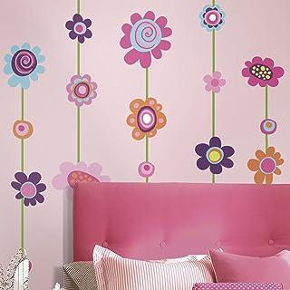 Roommates Flower Stripe Wall Stickers, Multi-Colour, RMK1622GM