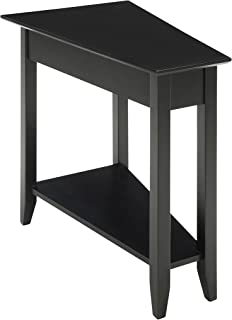 Convenience Concepts American Heritage Modern Wedge End Table, Black