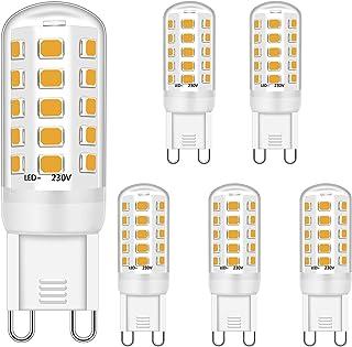 G9 LED Bulb 5W Equivalent to 28W 33W 40W Halogen Bulbs, G9 Led Bulb Warm White 2700K, Led G9 Bulbs, G9 Socket Led Lamp, No...