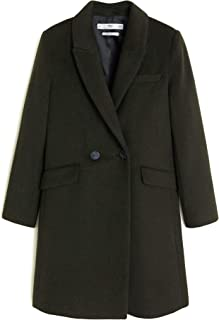 MANGO Women Lapels Wool Coat 53015714