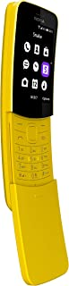 Nokia 8110 4G (Official Australian Version) 2018, Unlocked Mobile Phone with Keypad, Up to 25 Days Battery Standby, Wi-Fi, Camera, Apps, Yellow