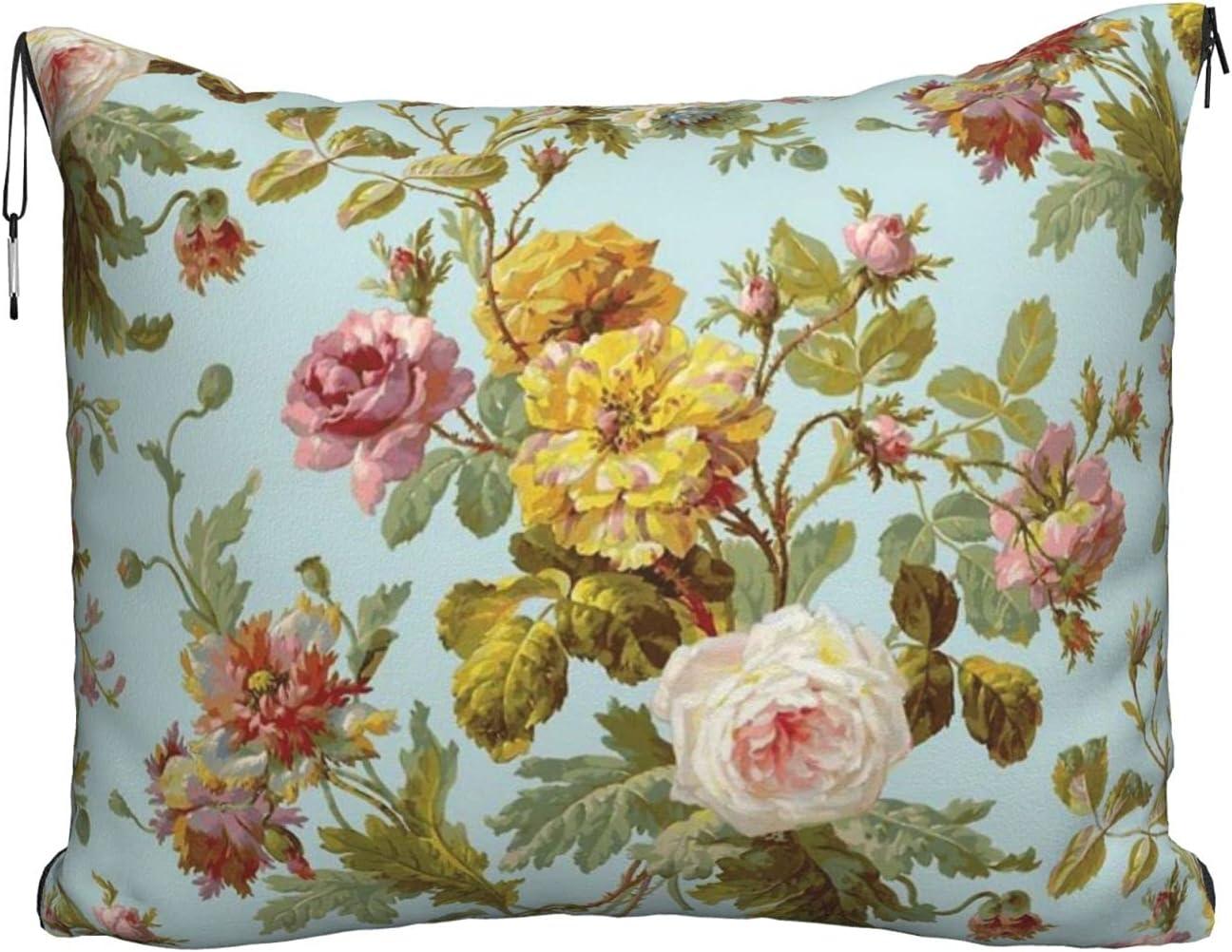 Mescchskvintage Vine Flower Print Travel Import Combo Chicago Mall Pillow Blanket Tr
