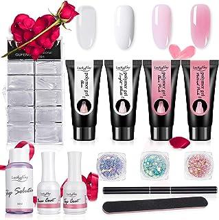 Luckyfine Polygel Uñas Kit, Extensión de Uñas Kit,