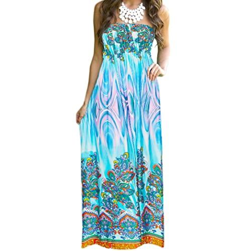 942e19fb796c5 Aofur Womens Maxi Dress Summer Polka Dot Off Shoulder Plus Size Party  Evening Long Sundress
