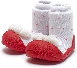 Attipas Ribbon Baby Walker Shoes, Red, Medium