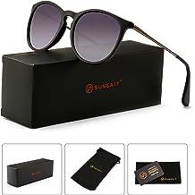 d53f266995 SUNGAIT Vintage Round Sunglasses for Women Classic Retro Designer Style