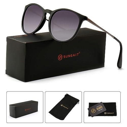 49cae7b1143 SUNGAIT Vintage Round Sunglasses for Women Classic Retro Designer Style