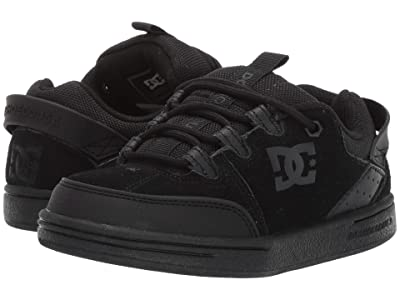 DC Kids Syntax (Little Kid/Big Kid) (Black/Black/Black) Boys Shoes