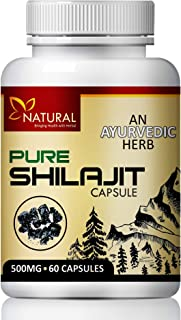 Pure Shilajit Herbal Capsules for Provides Energy and Revitalization, Regulates Hormones and Immune System 100% Ayurvedic