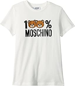 100% Moschino Teddy Bear Short Sleeve T-Shirt (Big Kids)
