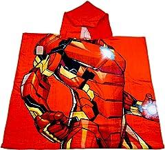 hi-lo Marvel Avengers Iron-Man Bade-Poncho Kinder 120×60 cm, Premium Badetuch..