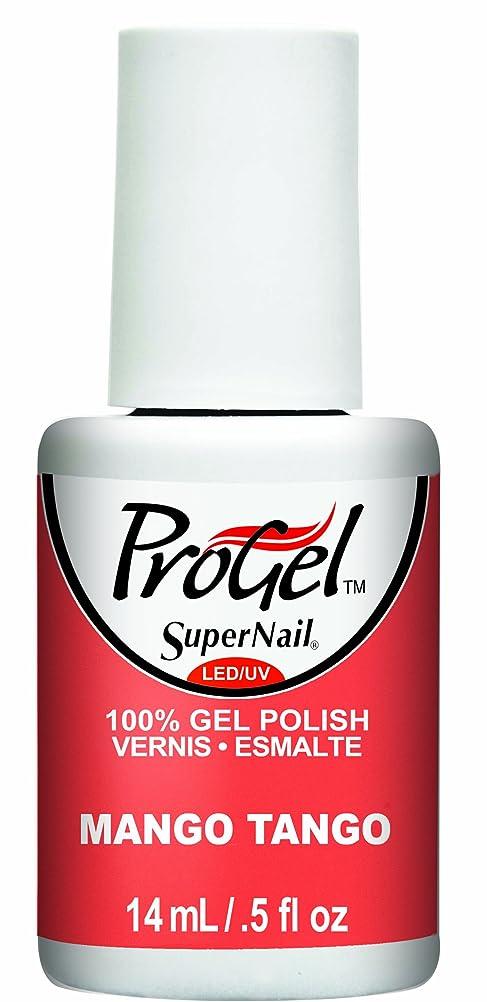 レギュラー約失業SuperNail ProGel Gel Polish - Mango Tango - 0.5oz / 14ml