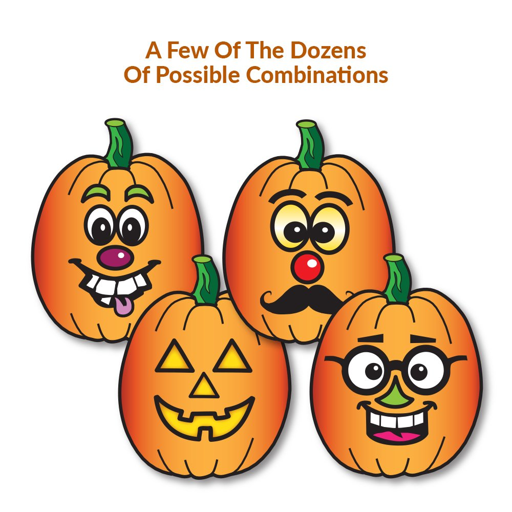 MALLMALL6 36Pcs Halloween Stickers for Kids Halloween Party Favors Make a Face Sticker Sheets Novelty DIY Jack-o-Lantern Pumpkin Stickers Party Decorations Supplies Vampire Witch Trick or Treat Filler