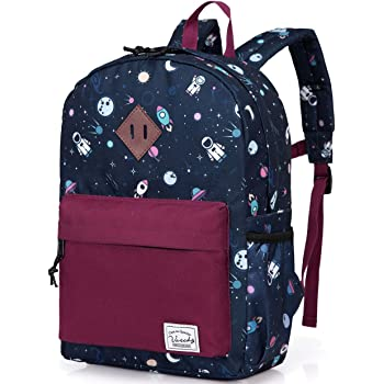 Stylish Galaxy 17 inch Backpack Children Toddler School Bag 4 Pieces Daypack
