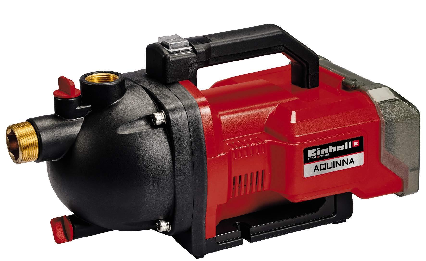 Einhell AQUINNA 36/30 Power X-Change, Bomba de jardín a batería (2 x 18 V, interruptor ECO de 2 escalones, tornillo de entrada y salida de agua, protección térmica, sin baterías ni cargador):