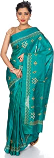 Mandakini — Indian Women's - Fancy Designer Art Silk (Pattu) Saree - Kasuti Embroidery Saree - 23 Brilliant Colors!