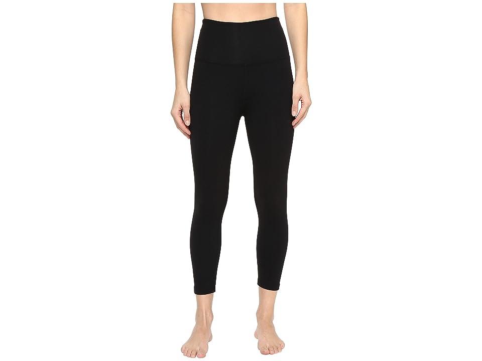 Beyond Yoga High Waist Capri Leggings (Jet Black) Women