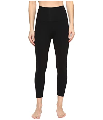 Beyond Yoga High Waisted Capri Leggings (Jet Black) Women